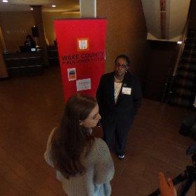 MCHS getting an interview. #WakeReady #GradNation @WCPSS #theta360