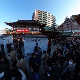#神田明神 例年通り人は多いですね。 #theta360