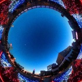 Tokyo Bokeh illumina 番外編  ユニオンジャックの庭 2  #イルミネーション #東京 #theta360