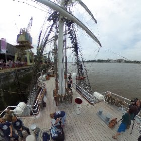 Tall ship race christian radich #theta360