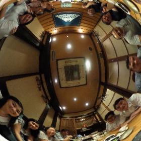 Cena con el grupo RIO!!! Súper cheveres!!! ✨🙌🏻🎉✨ #theta360