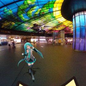 美麗島駅にて #miku360 #theta360