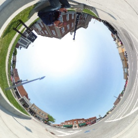 Test shot with Ricoh Theta S. Downtown Independence, MO. Click the link and scroll around 360 degrees.