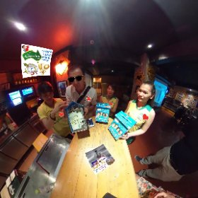360 spherical collect charity money box from Aus Pub BBQ Bangkok patrons generously donating to the FSCC (Foundation Slum Child Care) charity money box, vlog http://goo.gl/3xNOEU  BEST HASHTAGS #FSCCmoneyBox  #FSCC  #butterfly3d #theta360