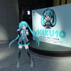 MIKU10最終日みんな来てねー!! #miku360 #contest #theta360