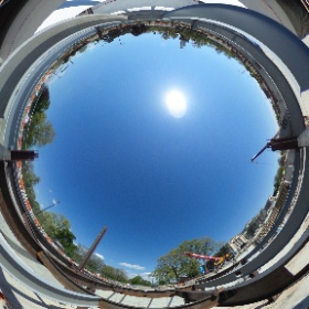 Construction at the Albright-Knox Art Gallery continues as steel starts to bring the new Buffalo AKG Art Museum and the Gundlach Building to life on the campus. The project will be completed in 2022 #theta360