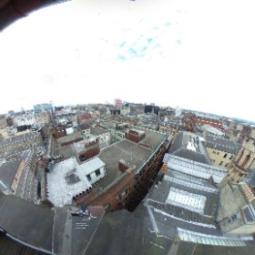 View from the top of the Lighthouse in Glasgow City centre. Scotland   #PeopleMakeGlasgow   www.thelighthouse.co.uk  #theta360 #theta360uk