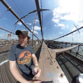 Bucket list check. Walk the Brooklyn Bridge. #theta360
