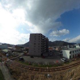 屋上前眺望 #theta360