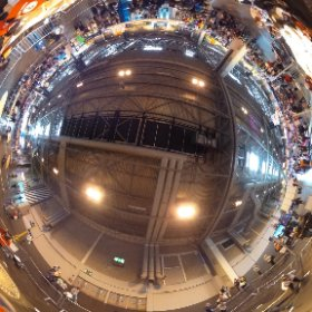 Giant Drawing Machines at Big Bang Fair: Aerial view #theta360
