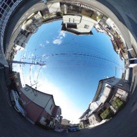 松山市の賃貸アパート、インフィニートAの敷地北東
