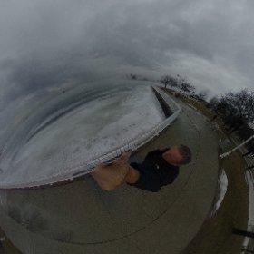 Fog rolling in on Sarnia Bay @mayorofsarnia #theta360 #theta360uk