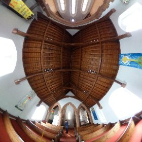 Inside a quaint English country church. Saint Paul's in Pooley Bridge on Ullswater in the Lake District. #Church #360photography #ullswater #LakeDistrict #england  #theta360 #theta360uk