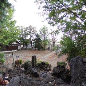 千住川田浅間神社の富士塚登頂記念シータ #theta360