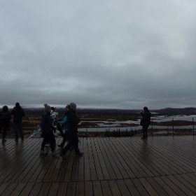 Observation deck at Thingvellir National Park, Iceland 22/10/2018 #theta360 #theta360uk