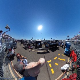Standing on pit lane at the 2017 Grand Prix of St Petersburg! #theta360