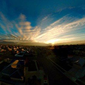 DJI Spark #Sunrise wearing #PolarPro ND16 hardware filter #imthemobileguru #360Photo #theta360