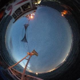 須磨漁港からいかなご漁出漁 #大阪湾 #幸内水産 #theta360