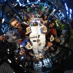 I want a turkish jacked potato, spherical photo at lunch #mobiledays17  #theta360