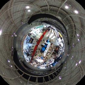 CP+会場で7.5mのポールで試し撮りでシータ! #theta360