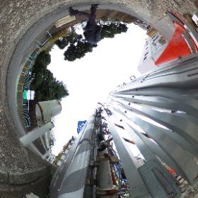 TEST RICHO THETA S Experiment to erase the traces of the tripod (cat eyes version) 4/6  #theta360