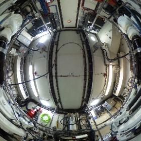 70' Hatteras Engine Room #theta360