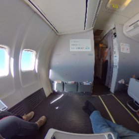 GOL Airlines Santiago de Chile São Paulo B737 #theta360