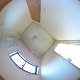 カーサオカジマB号室 洗面脱衣所 #theta360