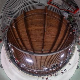 Ice hockey shrine and Minnesota landmark, the Roseau hockey rink. #theta360