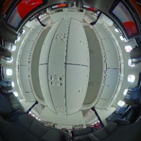 Qantas 787-9 Premium Economy cabin shot #theta360