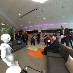 Another 360 view of our CEO, @dmowat_atb being interviewed about our @SBRAmerica robot, Pepper!