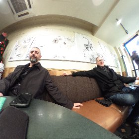 Starting off the morning with coffee… And Rob is pre-mealing #Paris #foodforrob #theta360