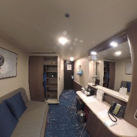 Take a look around cabin 11732 (balcony) aboard the #NorwegianBliss! #theta360