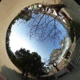 福山城公園天守閣広場の360°全天球画像 #theta360