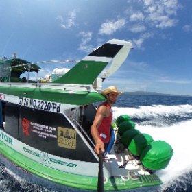 Little boat cruise in Bali 😎 #theta360 #theta360de