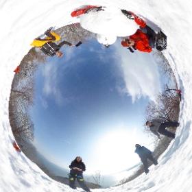 名倉山 #snow3d #theta360