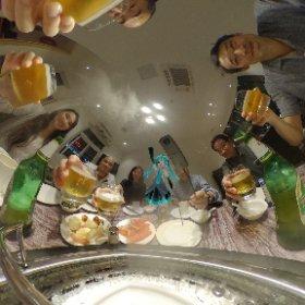 海鮮蒸し料理という日本ではないフォーマットでかむぺーーーいっ  #深圳での仕事  #theta360