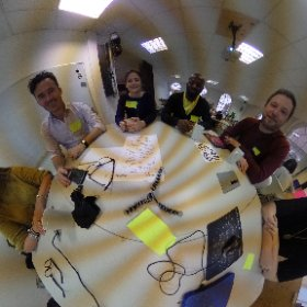 Team Elise ready for the challenges of the day @fablablondon #theta360