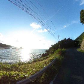島根半島海岸線 VRでバイク旅 日本一周【49日目】http://www.merkurlicht.com #theta360