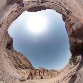 Petra Treasury in Petra, Jordan