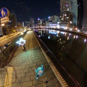 フェスティバルホールからちょっと歩いたとこの、中之島の夜景\( 'ω')/ #miku360