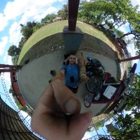 360 of me and the girl taking our lunch break in little San Francisco, Costa Rica.  #theta360