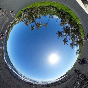360 Photo 8 of our #HawaiiTrip December 30, 2019. Punalu'u Black Sand Beach. This was a great spot to see green sea turtles on the beach. Jeri spent hours watching them here. I think this was her favorite spot on our trip. #RememberingJeri  #theta360