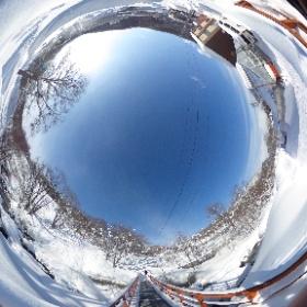 朝里川温泉スキー場 橋周辺  #まるちゃん写真集  #まるちゃん北海道旅行 #theta360