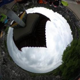 高いところから見回します。  不思議な景色です。  雲南省 石林 #theta360