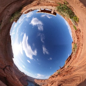 """The #GlenCanyonDam view from the """"White House."""" We always called that little pavilion the """"White House"""" because it was painted white in the 80s. Yes mom, I know I'm on the wrong side of the fence. But there never used to be a fence. #LakePowell #theta360"""