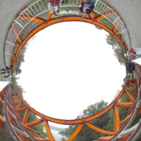 Rokugo River Iron Railway Bridge at Meiji Mura. #theta360 @TokyoDex