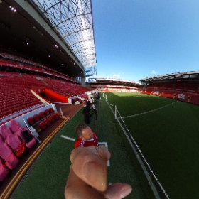 @LFC Pitch side during the Tour of Anfield, Liverpool, UK. #theta360 #theta360uk