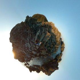 夕日の室戸岬 #MiSphere #360度写真