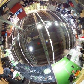Großes Interesse bei ÖkoFEN am Brennwertpelletheizkessel - 360 Grad Bild #theta360